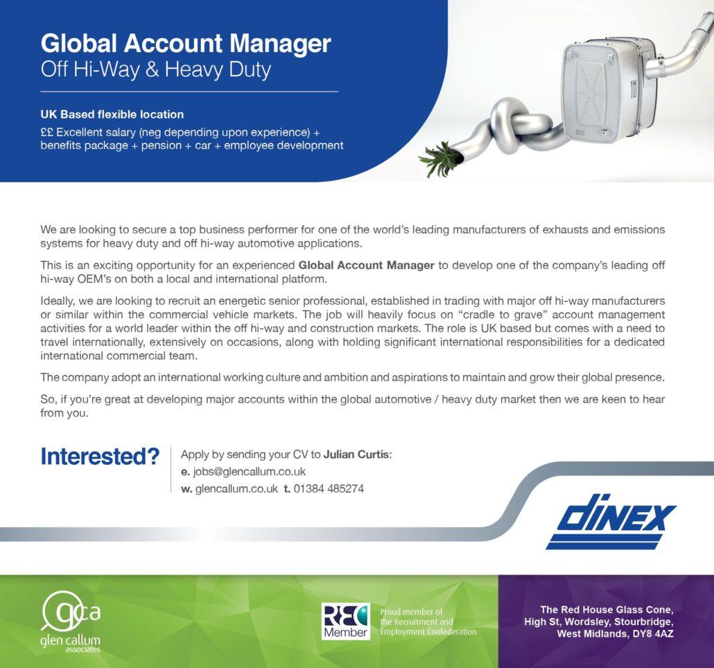 Dinex UK - Glen Callum find OEM Account and UK Product Manager