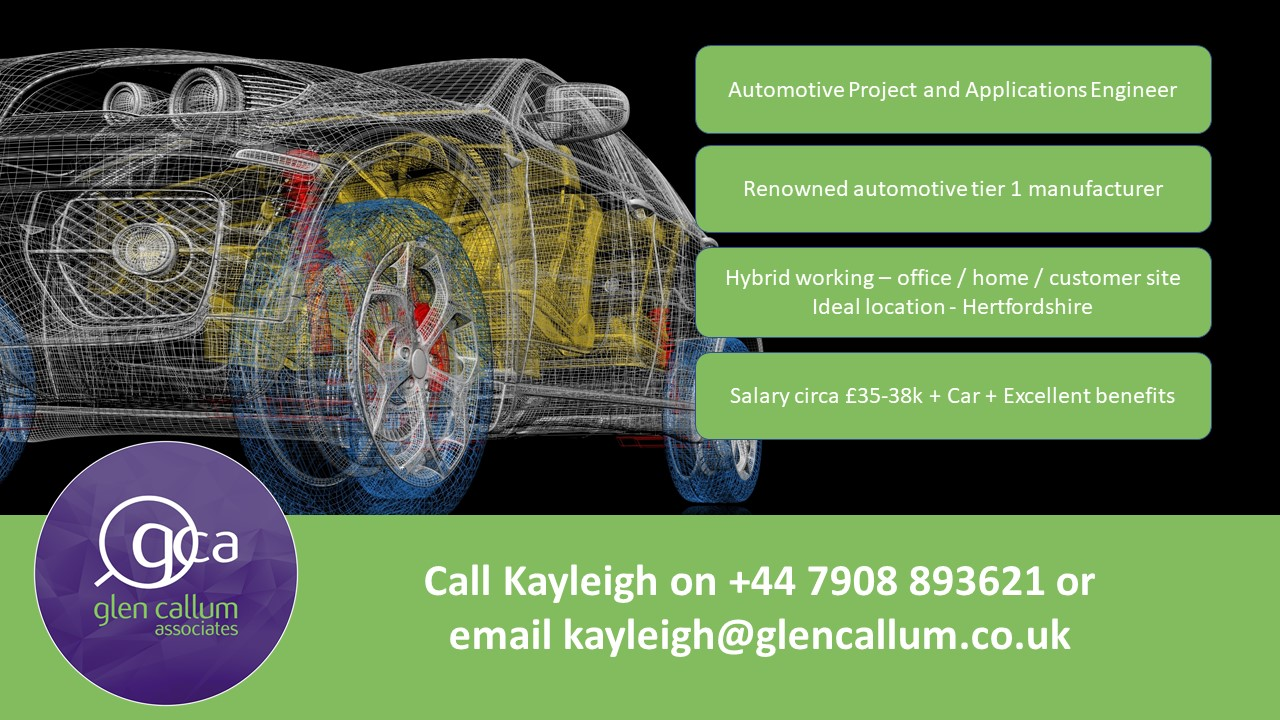 Automotive Projects and Applications Engineer
